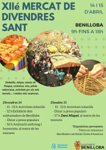 Cars, food and local products main attractions Market Traditional Benilloba 14 and 15 April