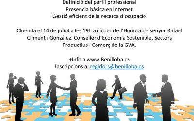 Benilloba organitza un curs de formació per a trobar treball per Internet